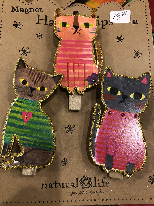 Glitter Cat Magnet Clips!