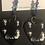 Thumbnail: The Beatles~Black & White Beatle Portrait ~Guitar Pick Earrings & beads!