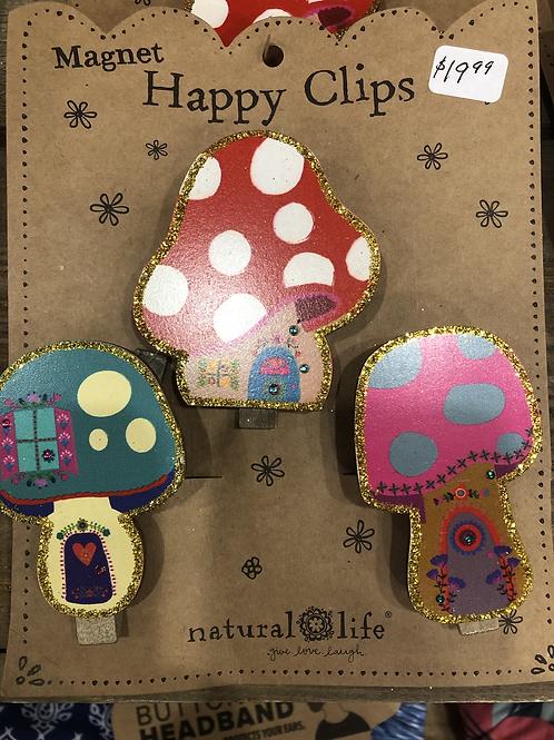Mushroom House Magnetic  Happy Clips