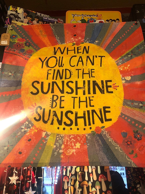 Be Sunshine Canvas Tapestry