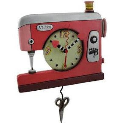 Pink Sewing Machine Clock