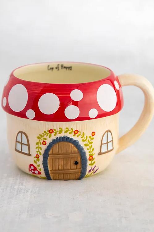 Mushroom Cottage Mug