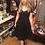 """Thumbnail: 1950s"""" Inspired Black Sweetheart  Swing Dress"""