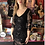 Thumbnail: Black Sequin Margaux Fringe Cocktail Dress
