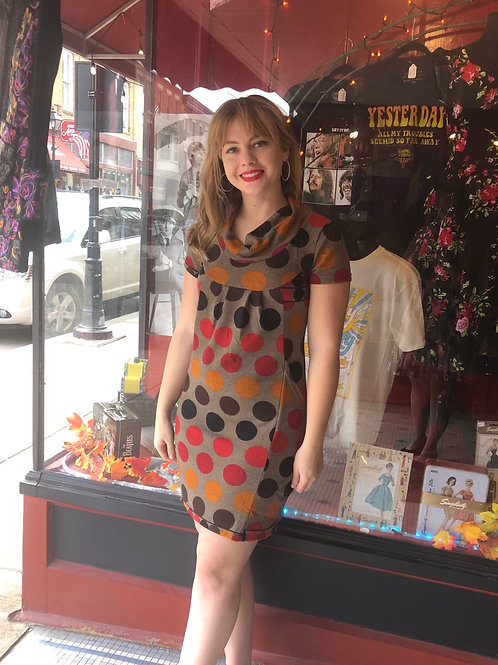 Retro Style Polka Dot Dress