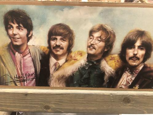 The Beatles Hanging Wood Plaque