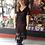 Thumbnail: Retro 1920s  Burgundy & Black Flapper Dress