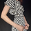 Thumbnail: 1960's Inspired Black & White Houndstooth Print Wrap Dress