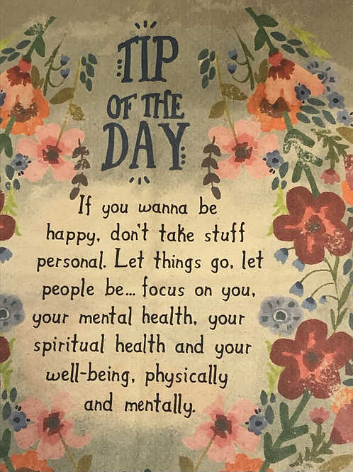 """Canvas Tapestry """"Tip Of The Day"""""""