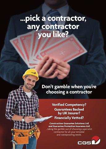 Construction Guarantee leaflet