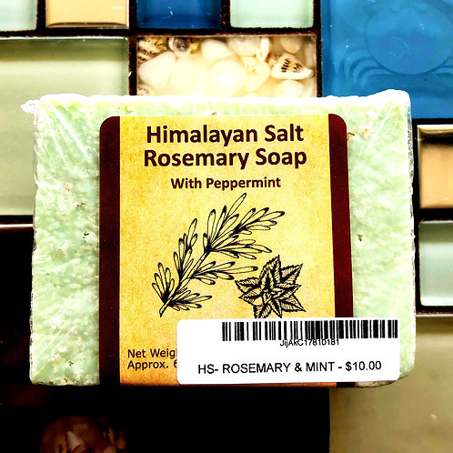 Himalayan Salt Rosemary with peppermint soap