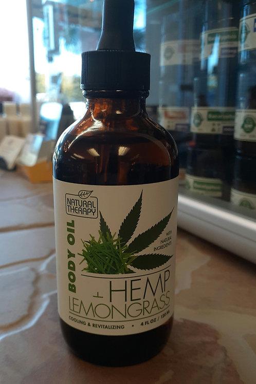 Body Oil Hemp Lemongrass