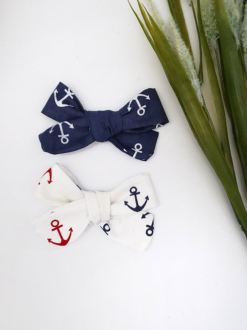 Nautical Handtied Cotton Bows