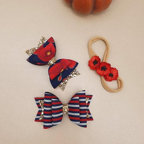 Poppies & Stripes