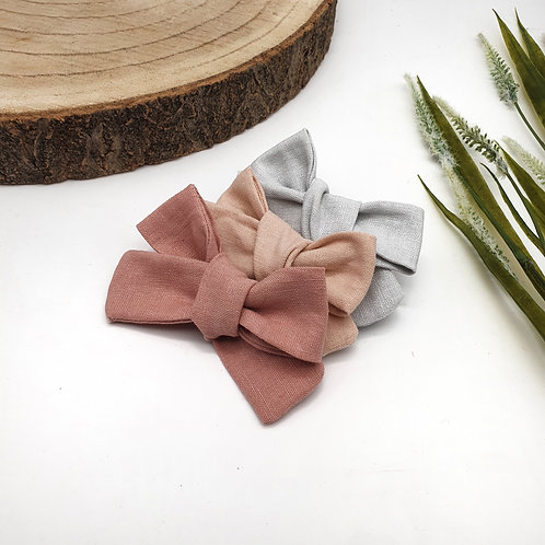 Natural Linen Classic Bows