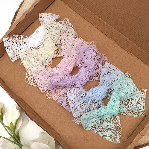 Pastel Lace Handtied Bows