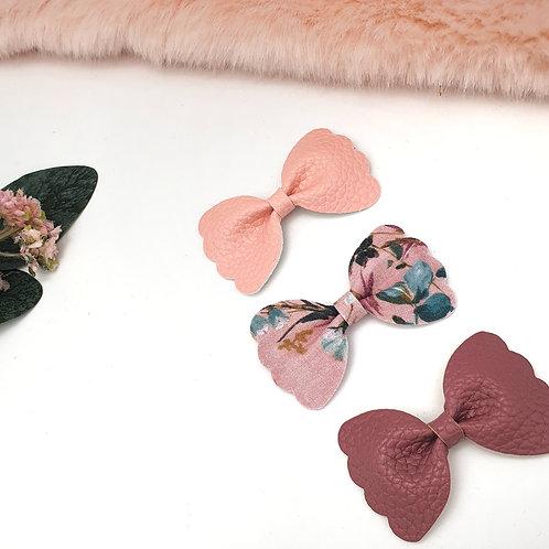 Pink Mini Scallop Trio