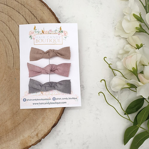 Twill Knot Clips