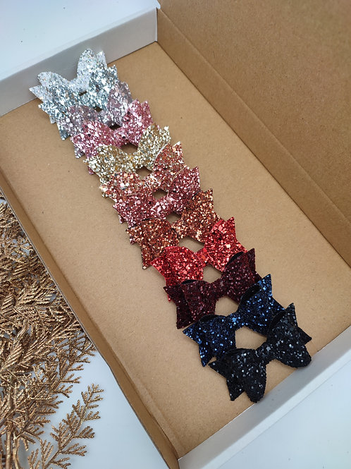 Small Glitter Dolly Bows