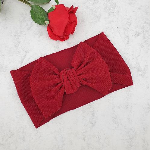 Deep Red Large Bow Headband