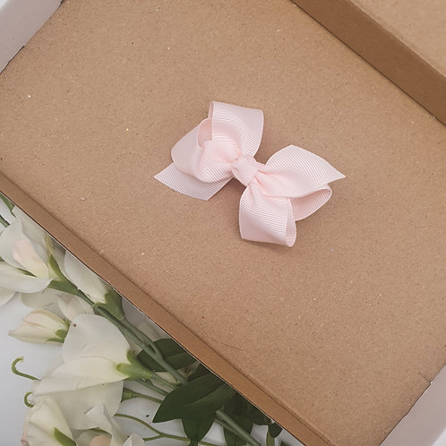 Boutique Ribbon Bow Baby Pink