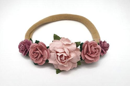 Pink Ombrè Flower Crown