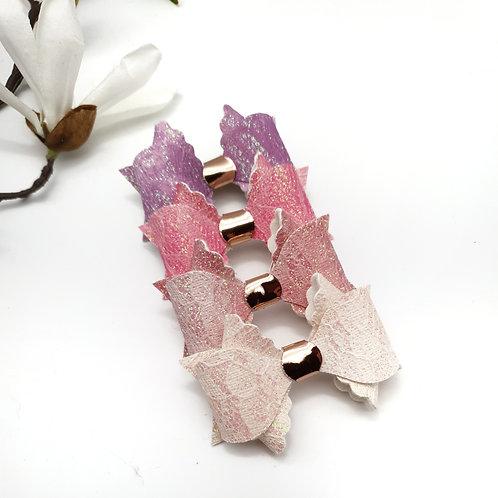 Glitter Lace Scallop Franchi Bow