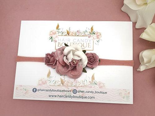 Dusty Pink Ombrè Flower Crown