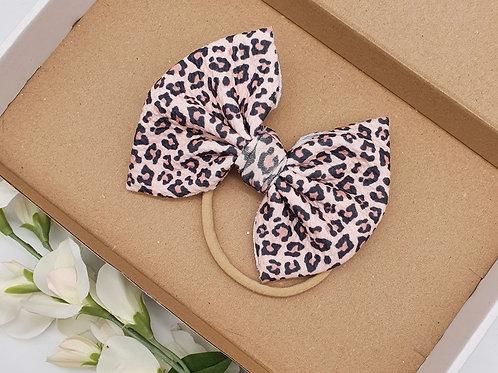"Large 5"" Leopard Print Bullet Headband"