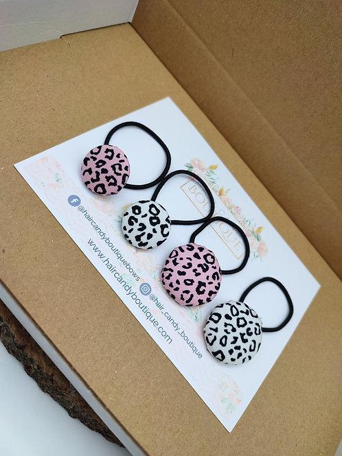 Leopard Print Button Bobbles