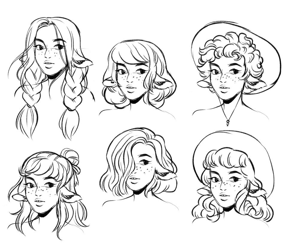 Centaur Girl Hairstyles