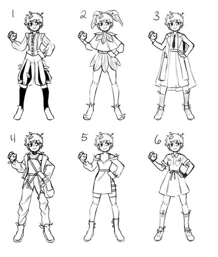 Pokemon Gym Leader Sketches