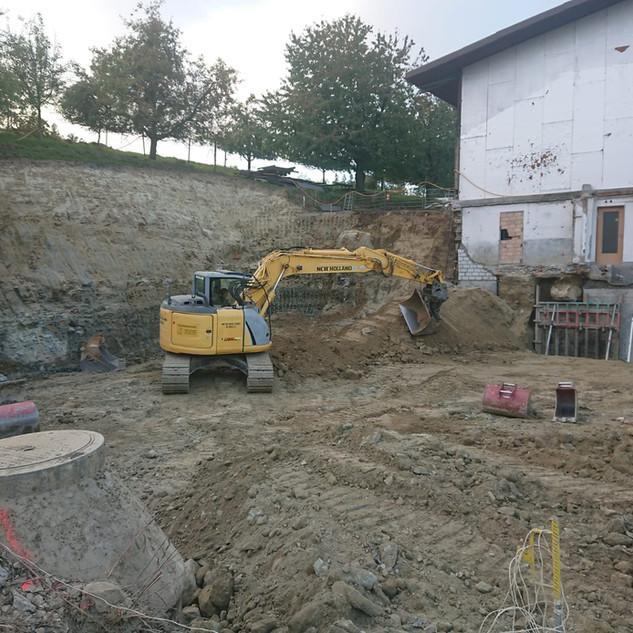 Aushub für unseren Neubau