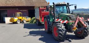 Trocknungsanlage braucht auch Mais und Gras