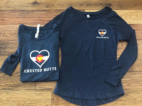 Colorado Mountain Love Womens Crested Butte Long Sleeve