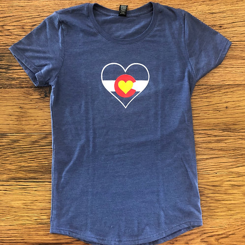 Colorado Mountain Love Triblend Womens Tee