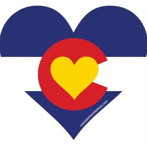 Colorado Mountain Love Sticker 2x2