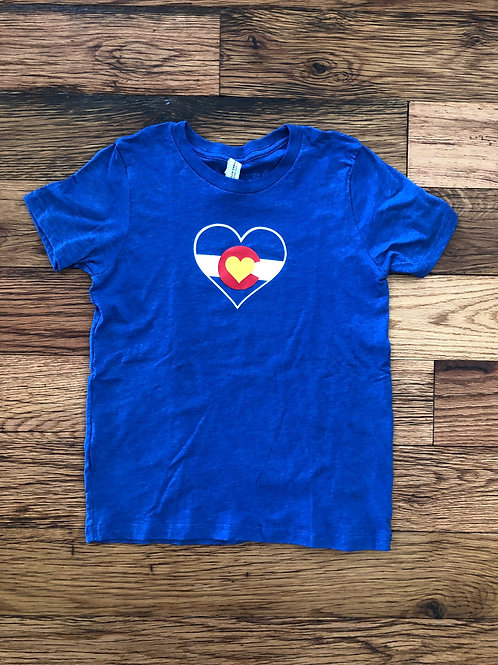 Colorado Mountain Love Kids Heart Tee