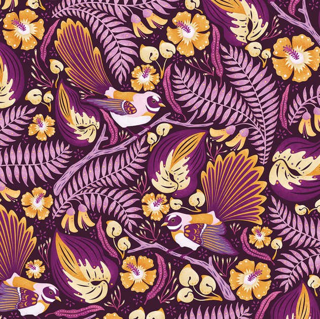 FANTAILS PATTERN AVAILABLE IN 5 COLOURWAYS