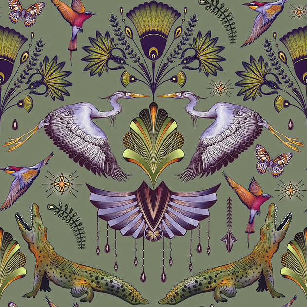 MYSTICAL NILE PATTERN AVAILBLE IN 2 COLOURWAYS