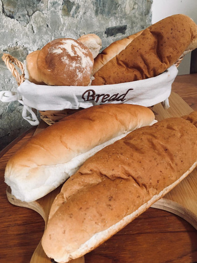 Baguettes with Basket of Baps