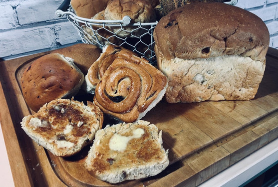 Sliced Chelsea, Fruit Buns & Bun Loaf