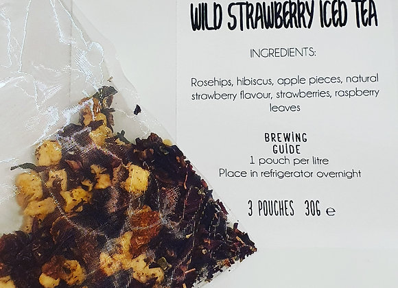 Wild Strawberry Iced Tea 3 pouch pack