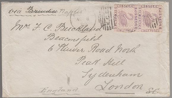 WESTERN AUSTRALIA 1890 ( AU 8 ) Envelope