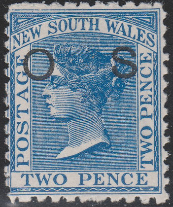 NEW SOUTH WALES SG O21c 2d Blue, OS