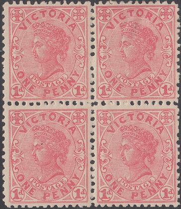 VICTORIA SG 434 BLOCK OF 4