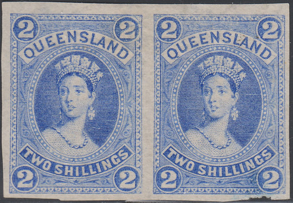 QUEENSLAND SG 152 PLATE PROOF COLOUR TRIAL IN BRIGHT BLUE