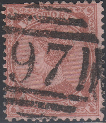 VICTORIA SG 172a Red-brown on Pink Paper.