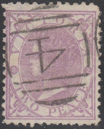 VICTORIA SG 170a 2d Mauve (Worn Plate)