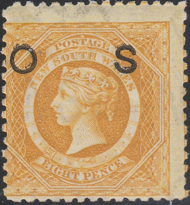 NEW SOUTH WALES SG O32d 8d Yellow, OS